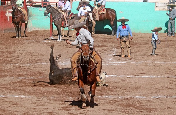 Buenos derribes en la sexta edición del Torneo Familias Charras que se verifica en el municipio de Valparaiso